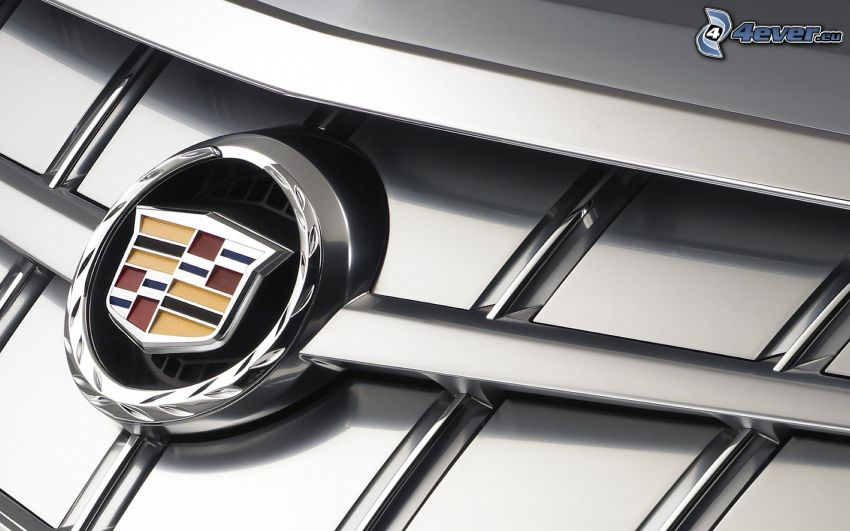 Cadillac, logo, przednia maska
