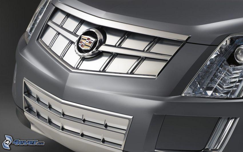 Cadillac, przednia maska, logo, reflektor