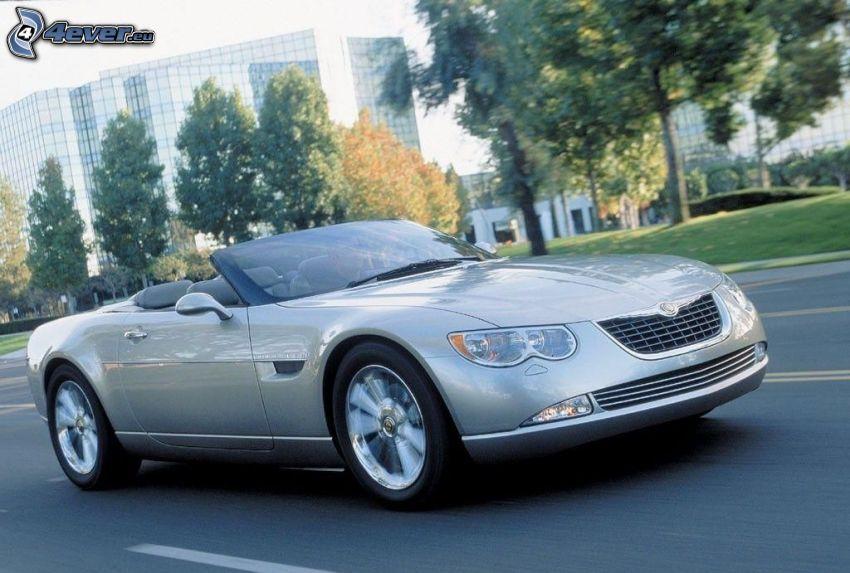 Chrysler 300, kabriolet, ulica