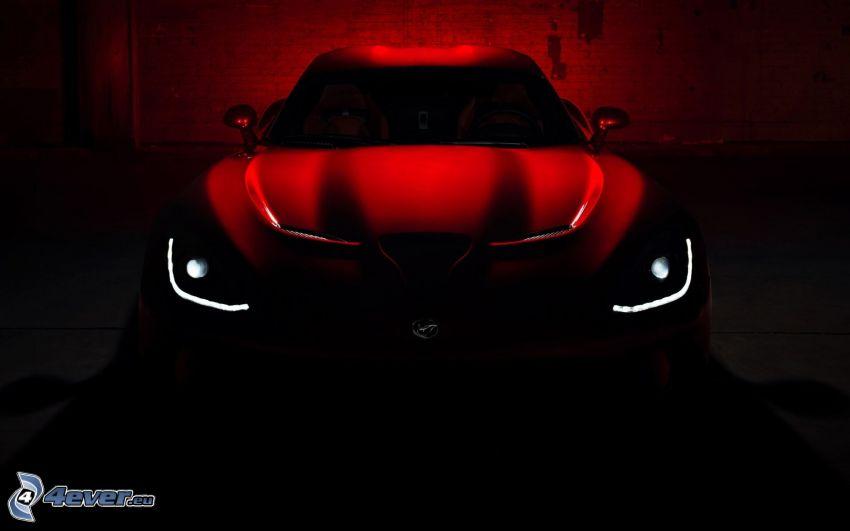 Dodge Viper SRT, przednia maska, światła