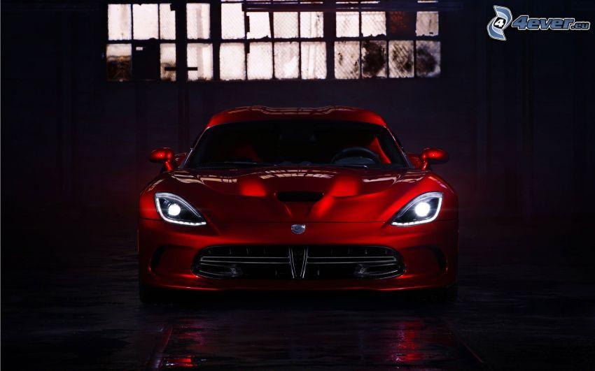 Dodge Viper SRT, światła, garaż