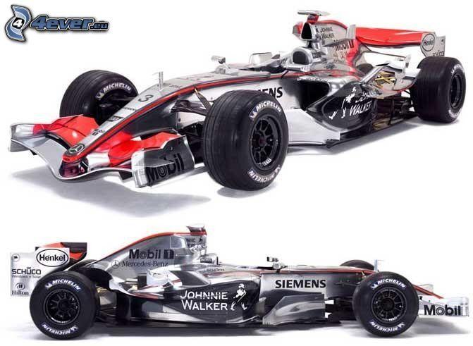 F1 McLaren Mercedes, Monoposto, Formuła 1
