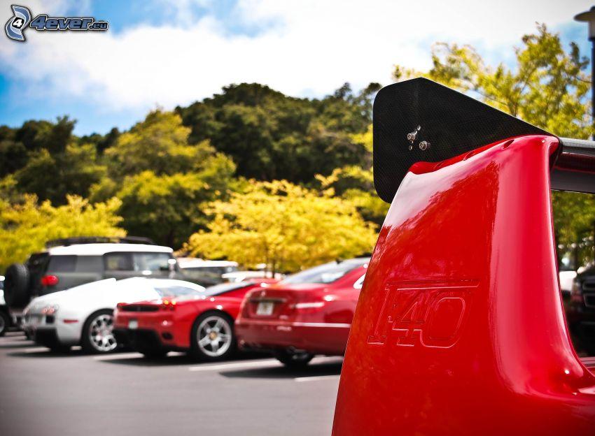 Ferrari F40, parking
