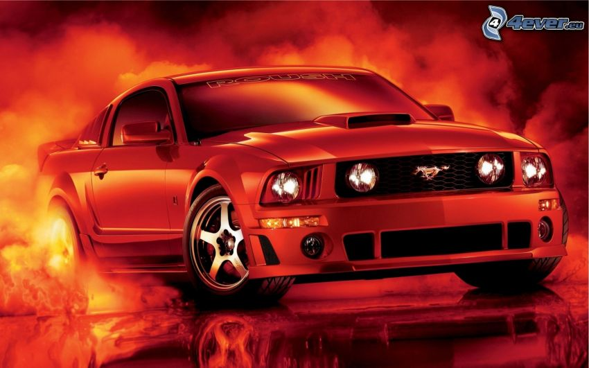 Ford Mustang, dym
