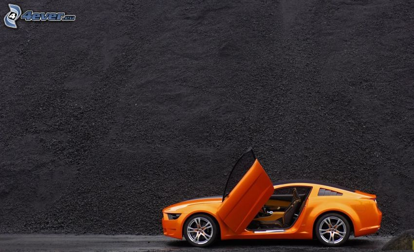 Ford Mustang Giugiaro, projekt, ściana