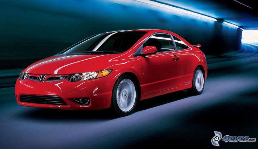 Honda Civic, prędkość, tunel