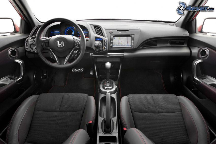 Honda CR-Z, wnętrze, tablica rozdzielcza, kierownica