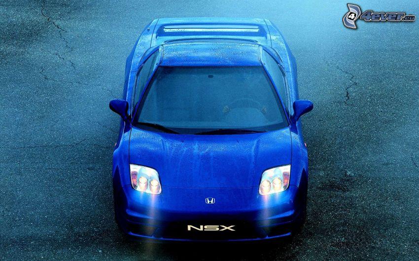 Honda NSX, deszcz