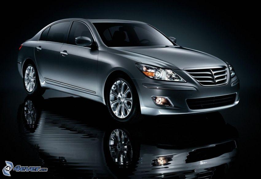 Hyundai Genesis, odbicie, woda