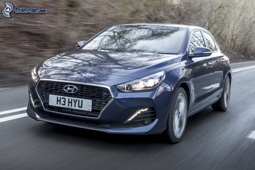 Hyundai i30, prędkość, ulica