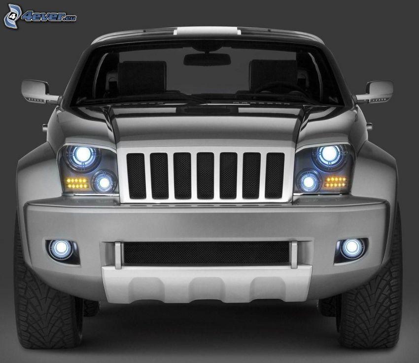 Jeep Wrangler, przednia maska