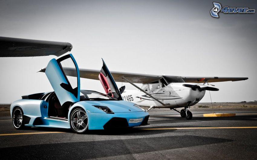 Lamborghini, drzwi, mały sportowy samolot