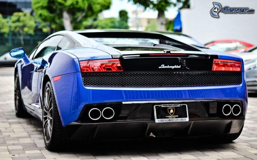 Lamborghini Gallardo, rura wydechowa, tylne światła