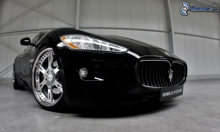 Maserati GranTurismo, reflektor, przednia maska