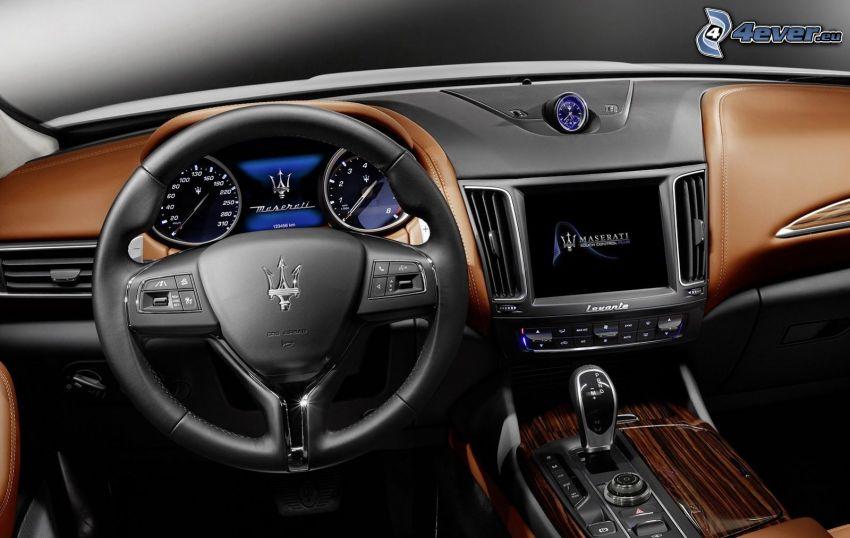 Maserati Levante, wnętrze, kierownica