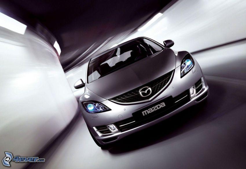 Mazda 6, prędkość, tunel