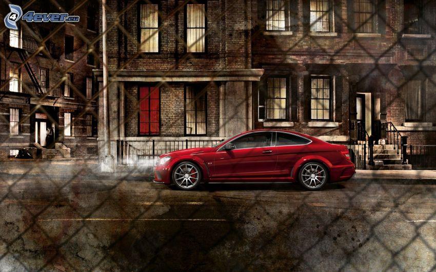 Mercedes-Benz CLS, ogrodzenie z drutu