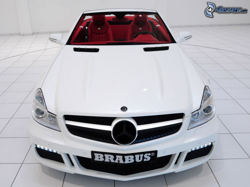 Mercedes Brabus, kabriolet, przednia maska
