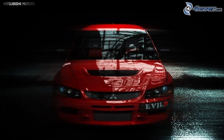 Mitsubishi Lancer Evolution IX, przednia maska