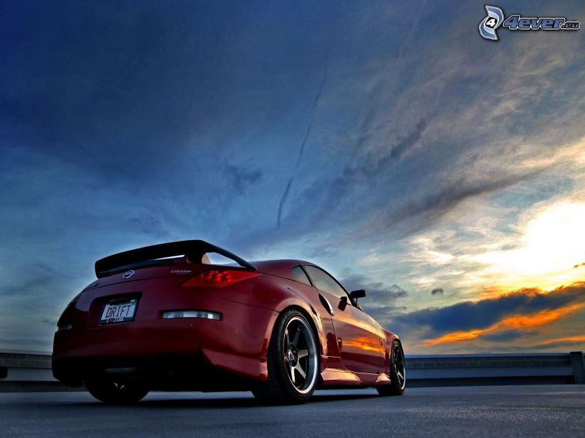 Nissan 350Z, niebo