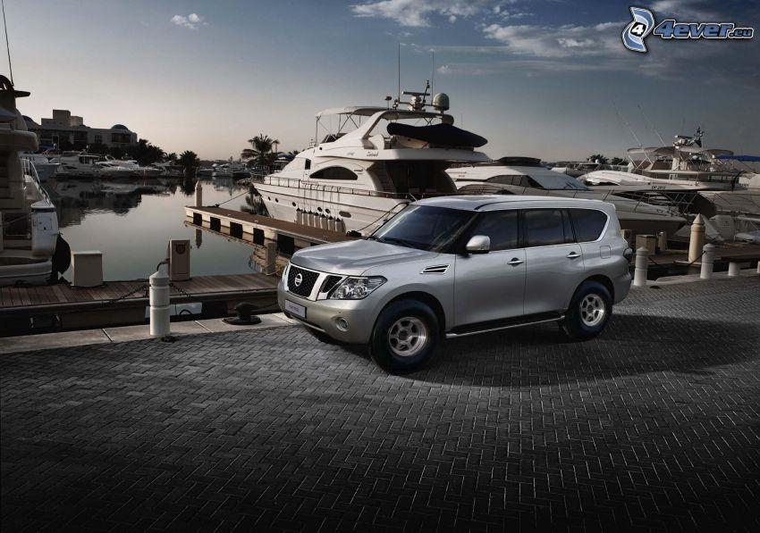 Nissan Patrol, bruk, port, statki, jacht