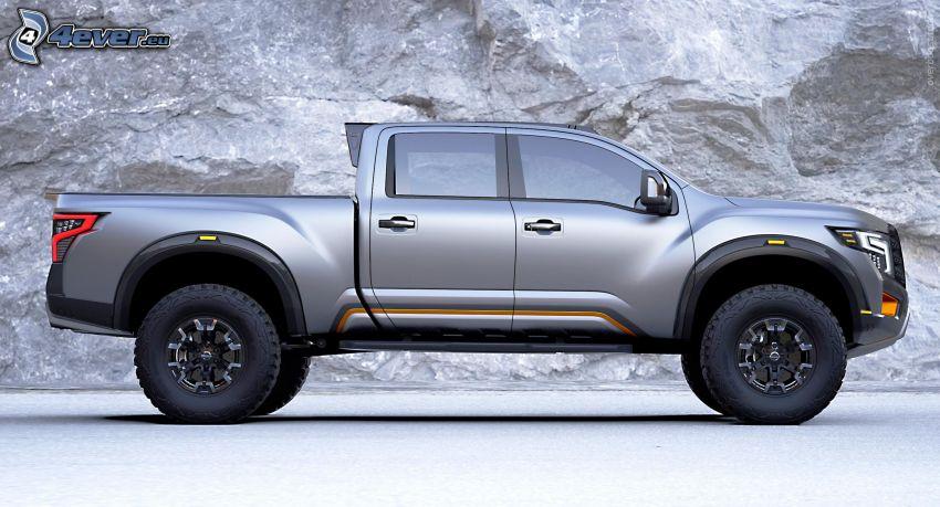 Nissan Titan, skała