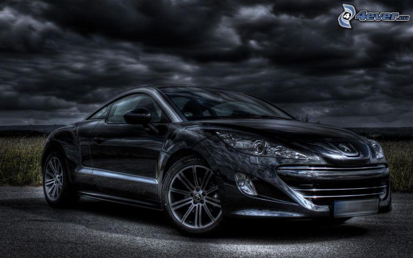 Peugeot RCZ, ciemne chmury
