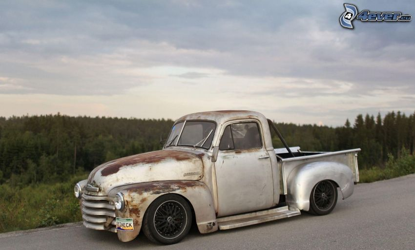 pickup truck, weteran