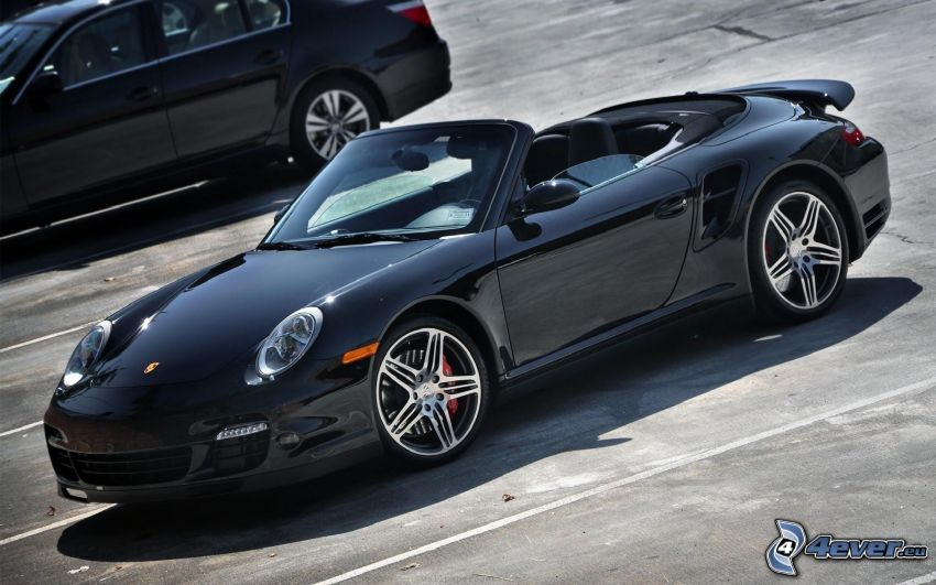 Porsche 997 GT3, kabriolet, parking