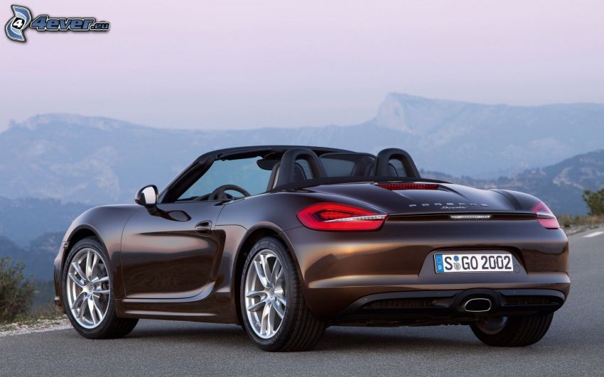Porsche Boxster, kabriolet, widok na krajobraz