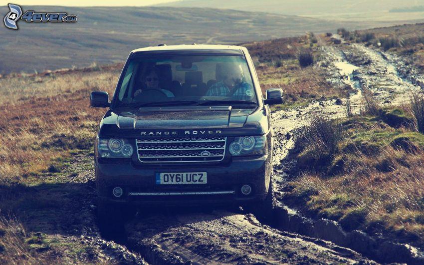 Range Rover, teren, błoto