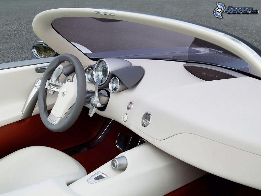 Renault Nepta, wnętrze, tablica rozdzielcza, kierownica