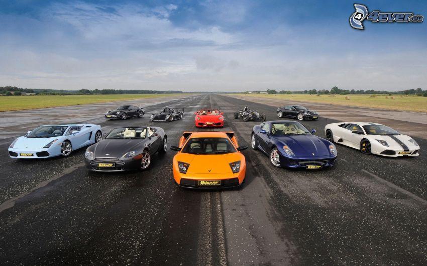 Samochody, Lamborghini, Porsche, Aston Martin