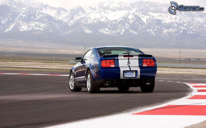 Shelby GT500CR, wyścigi, torowe, zaśnieżone góry