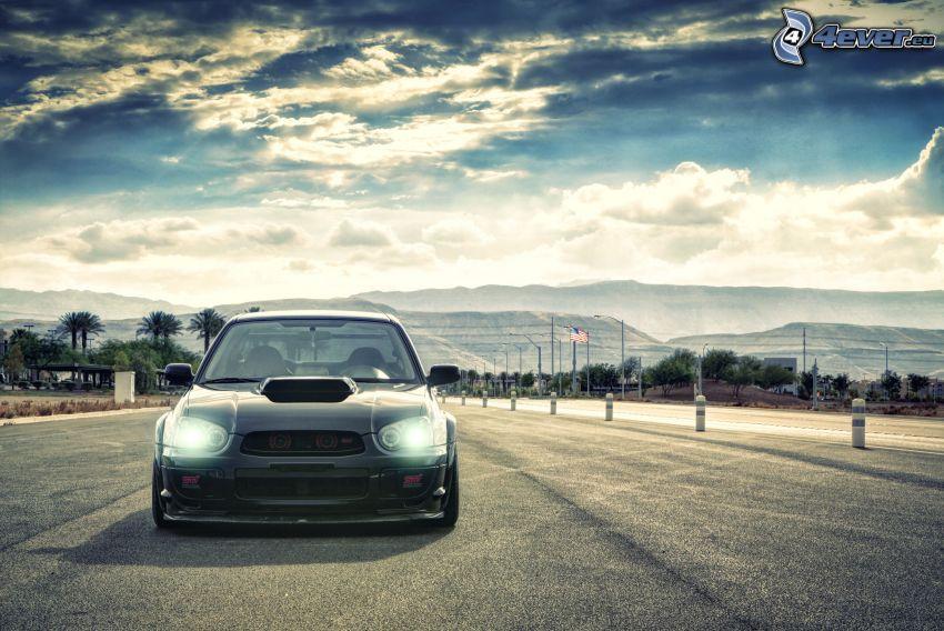 Subaru Impreza WRX STi, niebo