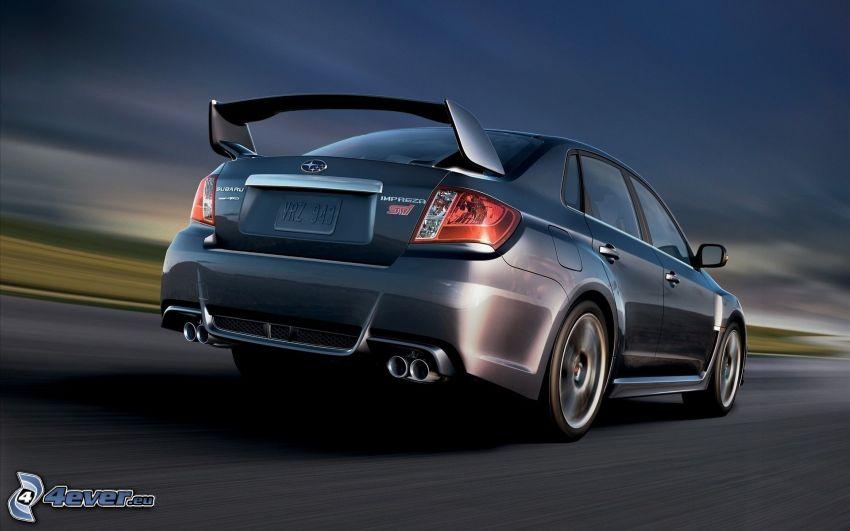 Subaru Impreza WRX STi, prędkość