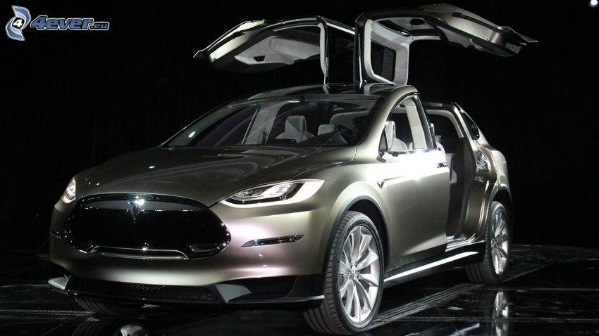 Tesla Model X, drzwi