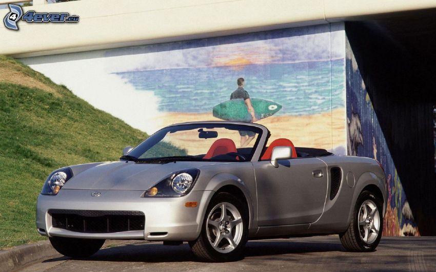 Toyota MRS, kabriolet, ściana, malowidło