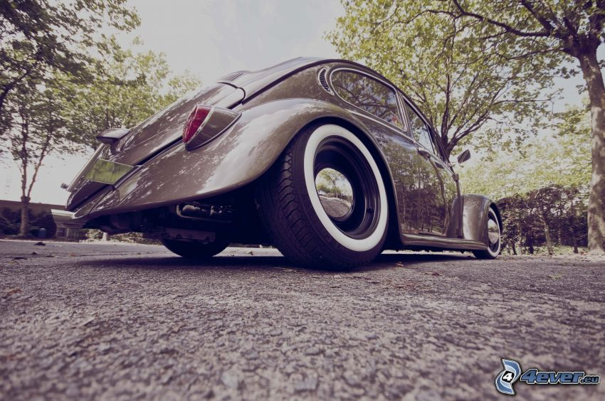 Volkswagen Beetle, koła, Hot Rod