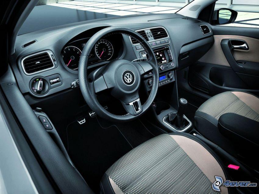 Volkswagen Cross Polo, kierownica, tablica rozdzielcza, wnętrze