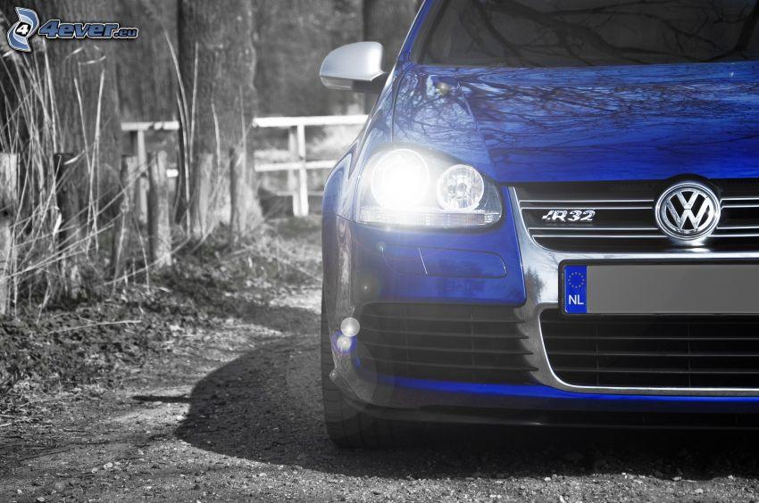 Volkswagen Golf, reflektor, przednia maska
