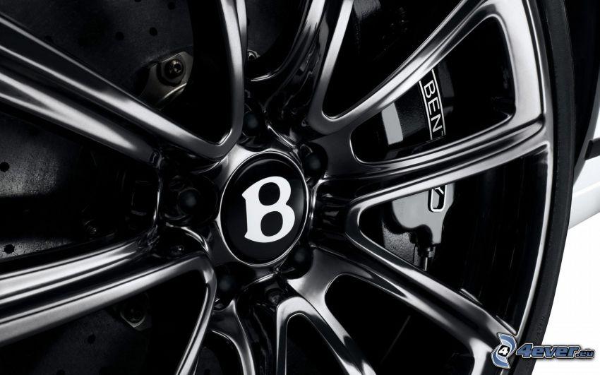 Bentley Continental GT, koło, dysk