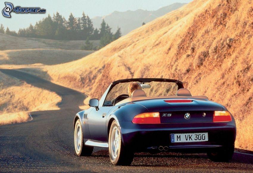 BMW Z3, kabriolet, ulica, wzgórze