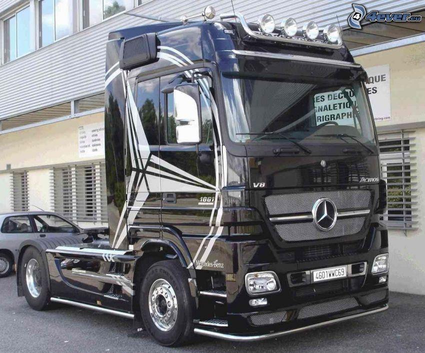 Mercedes, truck, ciężarówka