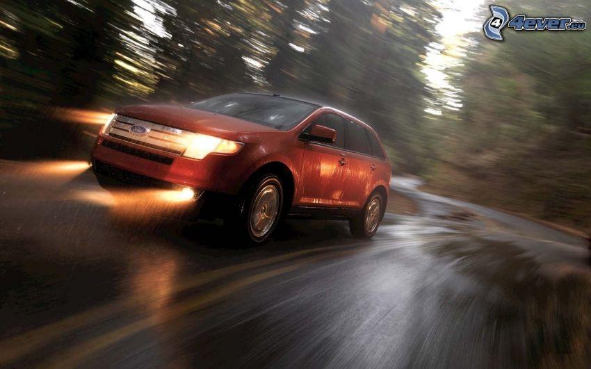Ford, prędkość, deszcz
