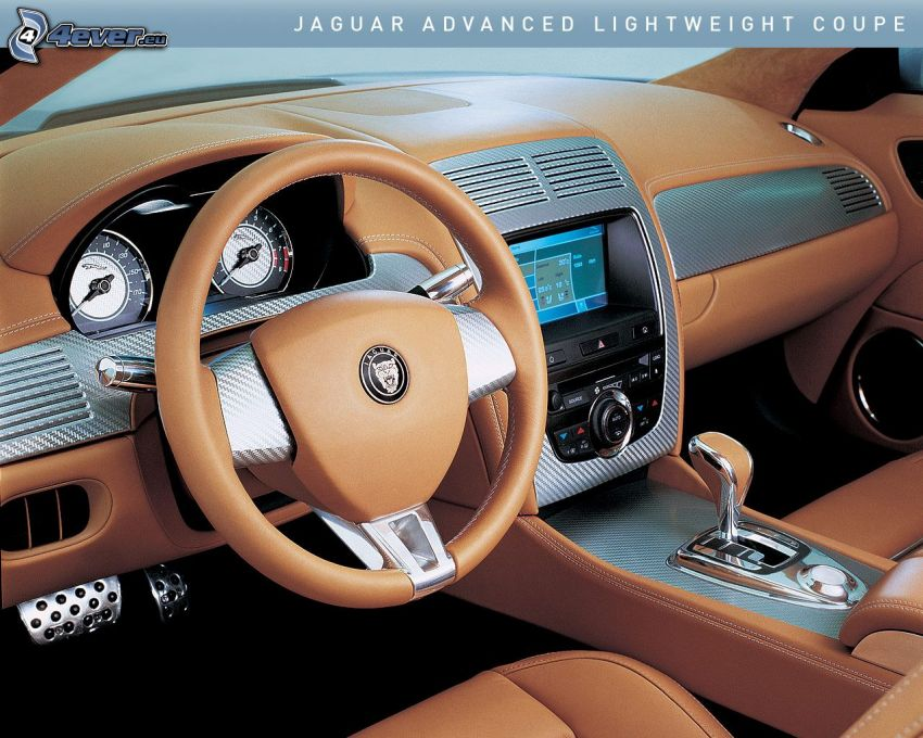 Jaguar, Advanced Lightweight Coupe, wnętrze