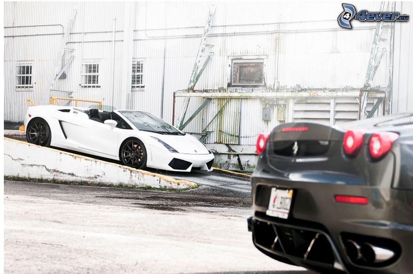 Lamborghini, kabriolet, Ferrari
