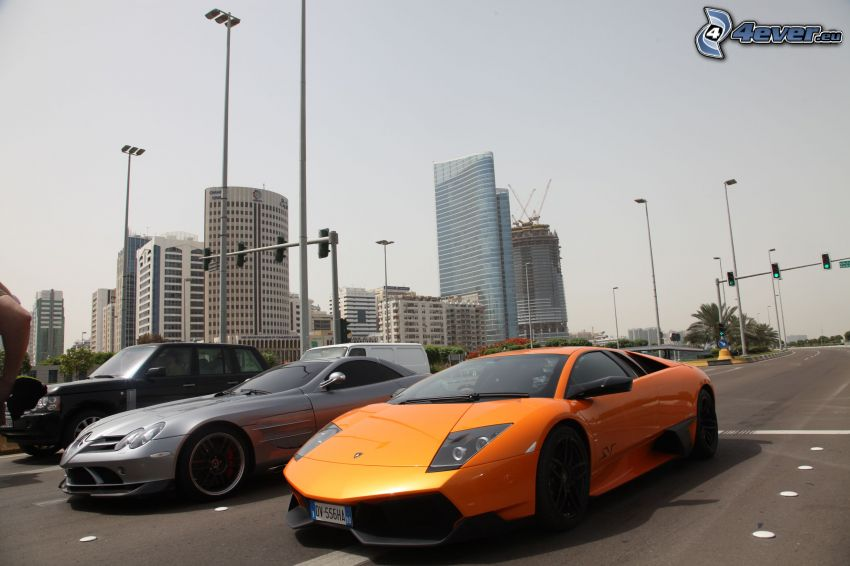 Lamborghini Murciélago, Mercedes-Benz SLK, Range Rover