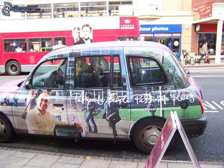 London cab, reklama