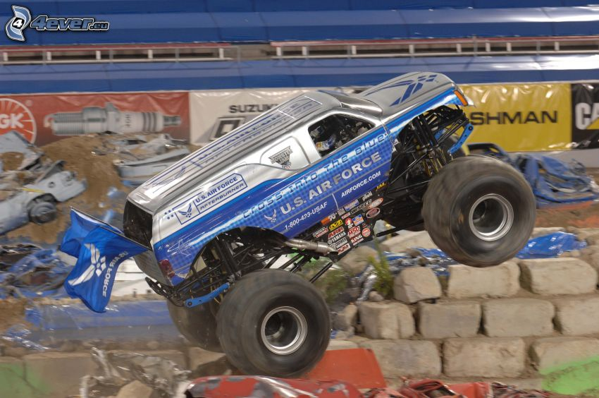 monster truck, samochód terenowy